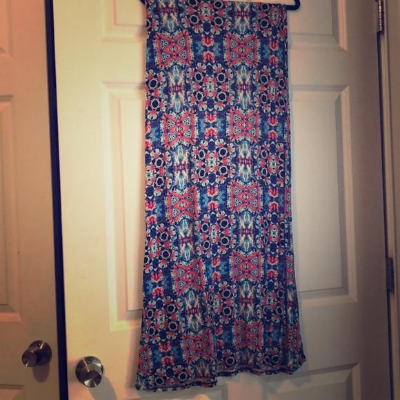 B Jewel Dresses & Skirts - Red and blue cotton mani skirt